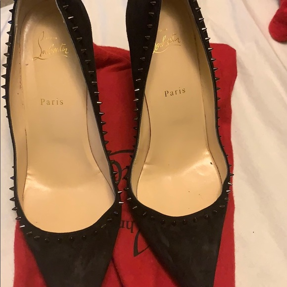 Louboutin shoes size 40 . Only worn a few times .